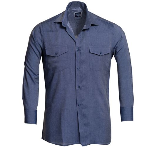Blue Jeans Men's Western Style Shirt